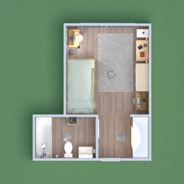 floorplans baldai dekoras miegamasis apšvietimas 3d