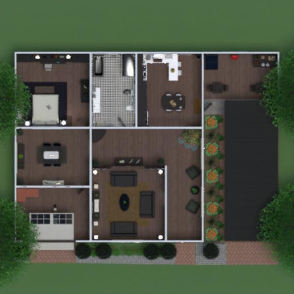 floorplans dom meble wystrój wnętrz zrób to sam pokój dzienny garaż kuchnia krajobraz jadalnia wejście 3d