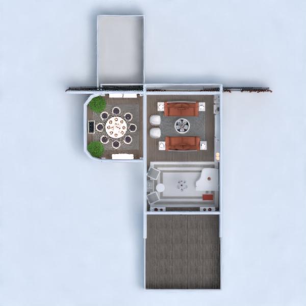 floorplans casa mobílias decoração quarto sala de jantar 3d