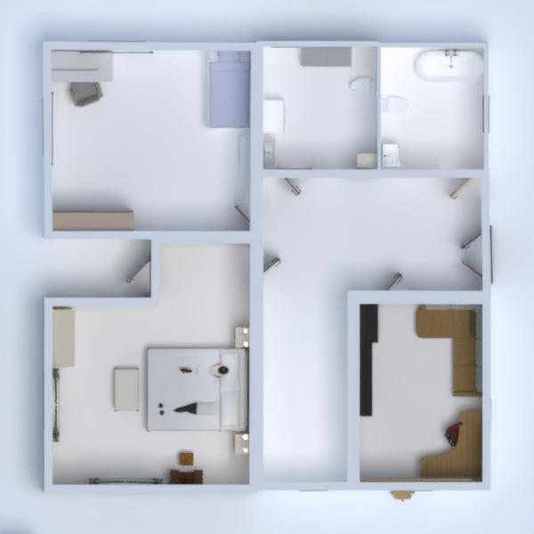 floorplans casa cuarto de baño dormitorio 3d