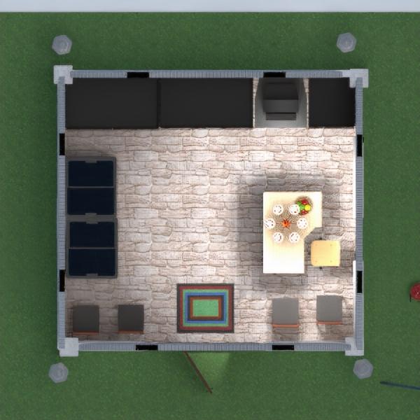 floorplans exterior paisaje cafetería comedor estudio 3d