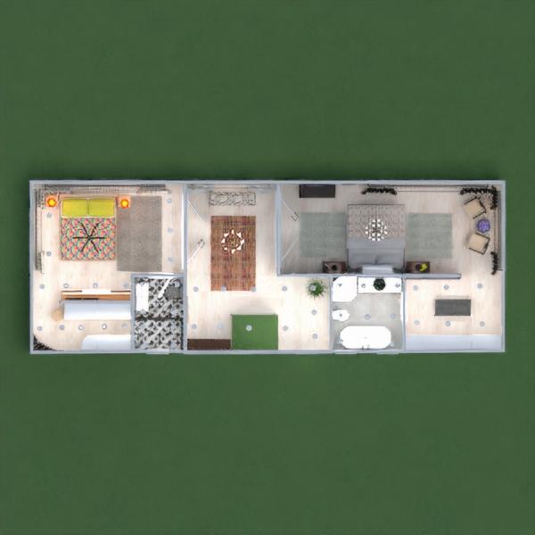 floorplans casa muebles decoración dormitorio garaje cocina iluminación comedor arquitectura trastero descansillo 3d