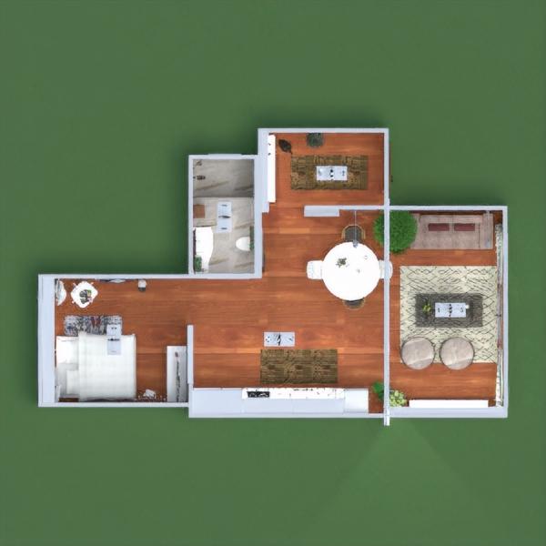 floorplans appartement meubles décoration eclairage salle à manger architecture studio 3d