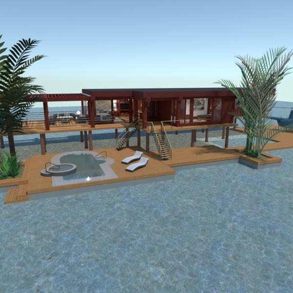 floorplans namas terasa vonia miegamasis svetainė 3d