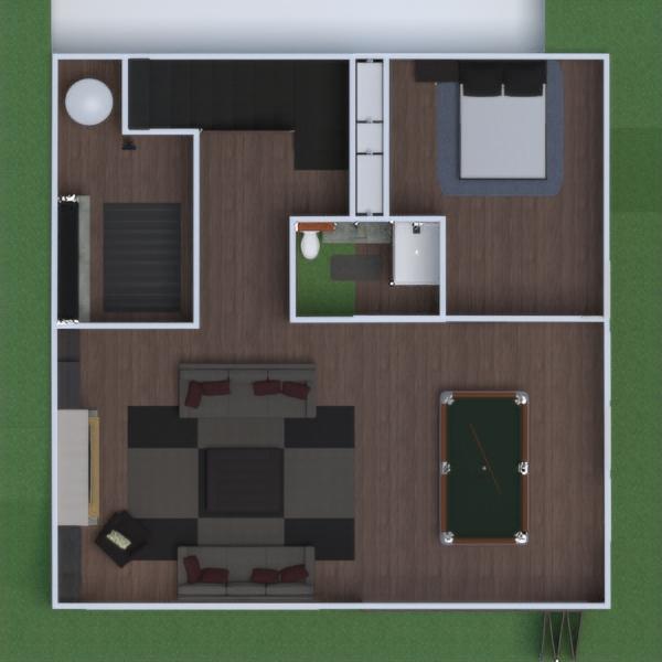 floorplans quarto cozinha área externa paisagismo arquitetura 3d