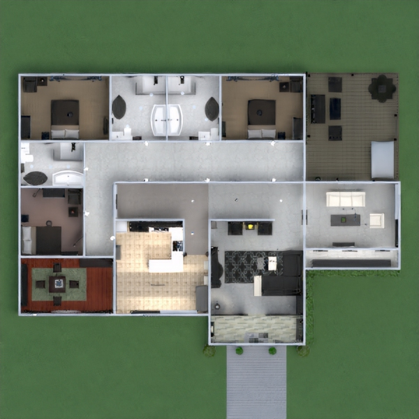 floorplans haus mobiliar dekor 3d