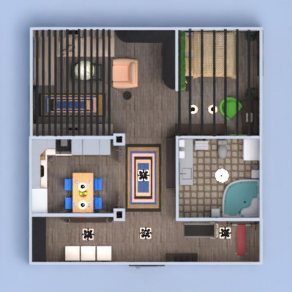 floorplans appartamento arredamento decorazioni camera da letto cucina 3d