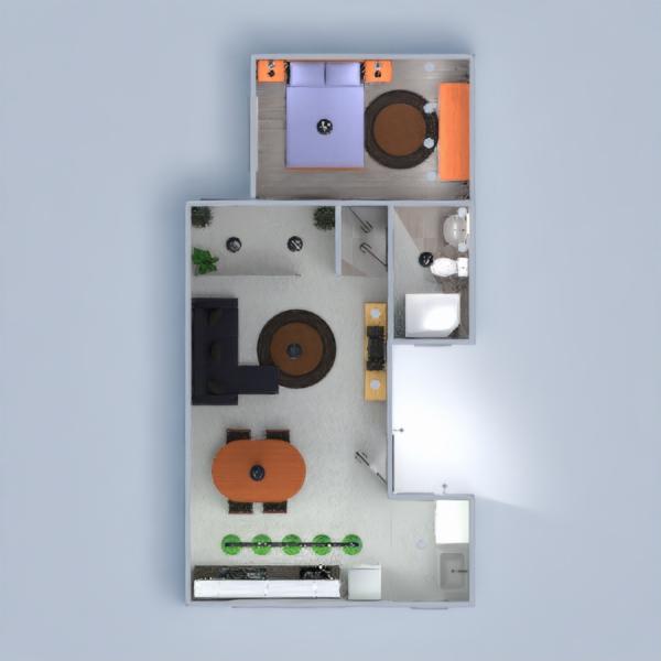 floorplans квартира дом сделай сам гостиная кухня 3d