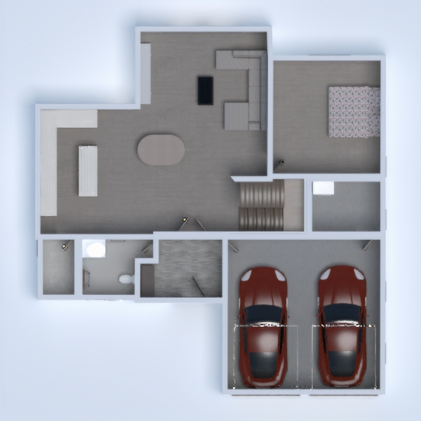 floorplans house bathroom bedroom garage kitchen 3d