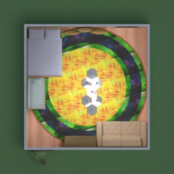 floorplans chambre à coucher eclairage 3d