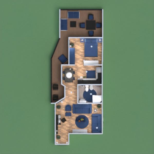 floorplans apartamento habitación infantil descansillo 3d
