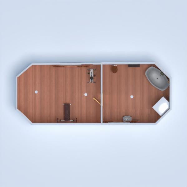 floorplans cuarto de baño dormitorio salón cocina comedor 3d