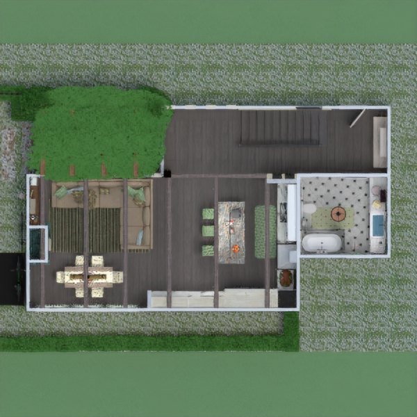 floorplans house terrace furniture bathroom bedroom living room kitchen outdoor lighting dining room architecture 3d