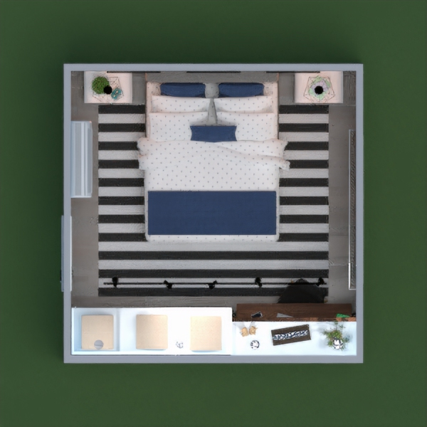 floorplans apartment house furniture bedroom 3d