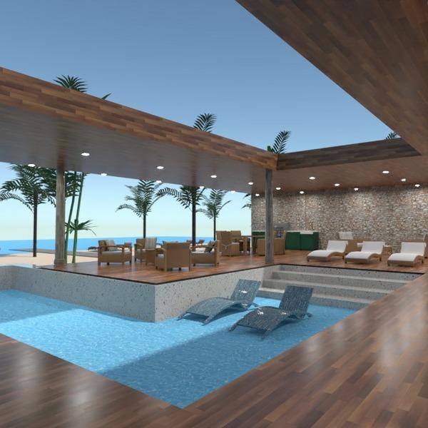 floorplans terrasse extérieur paysage maison architecture 3d