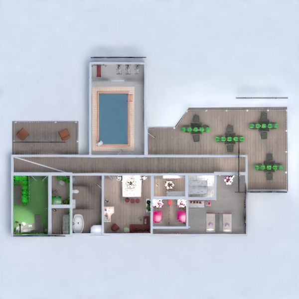 floorplans décoration chambre à coucher cuisine paysage salle à manger 3d