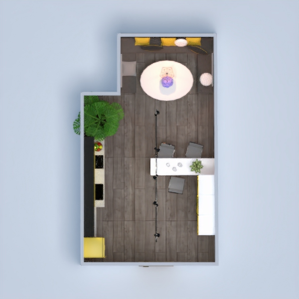 floorplans apartment kitchen dining room 3d