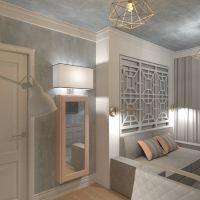 floorplans apartamento mobílias decoração dormitório quarto escritório 3d