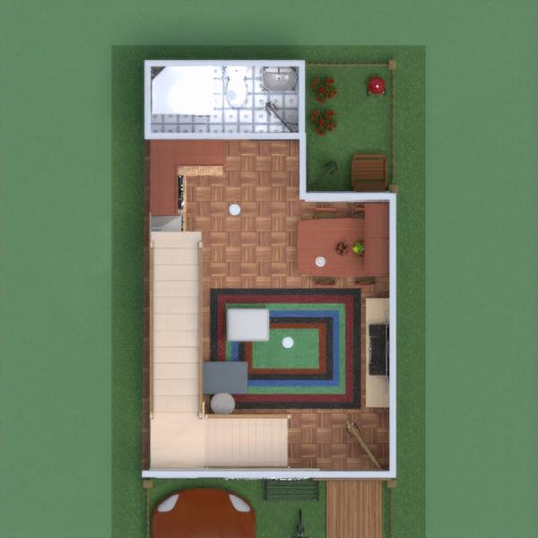 floorplans haus wohnzimmer küche esszimmer 3d