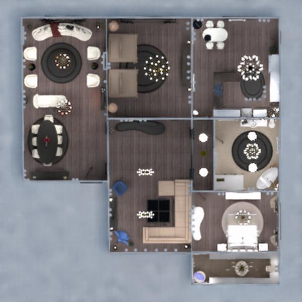floorplans maison meubles décoration salle de bains cuisine 3d