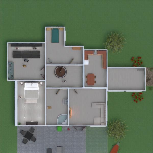 floorplans maison meubles décoration chambre à coucher salon 3d