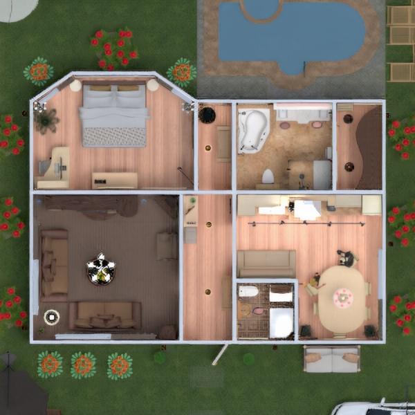 floorplans dom meble wystrój wnętrz zrób to sam łazienka sypialnia pokój dzienny kuchnia jadalnia architektura przechowywanie wejście 3d
