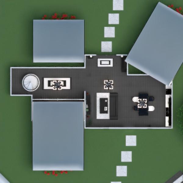 floorplans дом терраса мебель декор ванная спальня гостиная кухня улица освещение ландшафтный дизайн архитектура хранение прихожая 3d