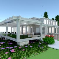floorplans house terrace landscape architecture 3d