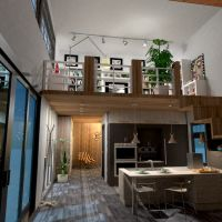 floorplans house furniture outdoor lighting 3d