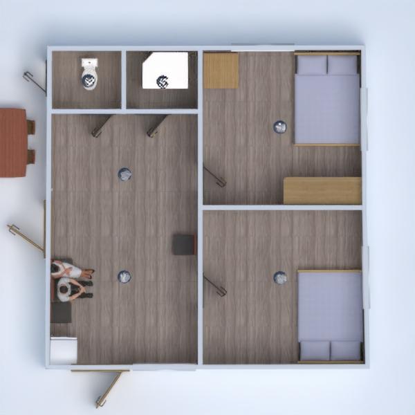 floorplans dom taras meble sypialnia oświetlenie 3d