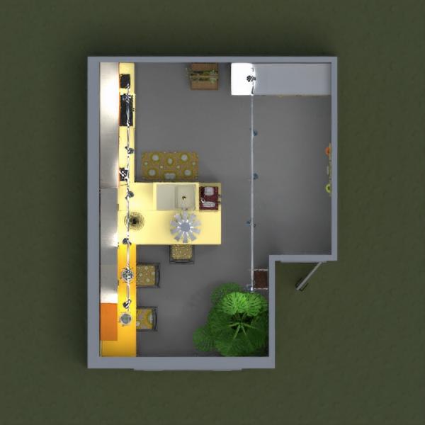 floorplans baldai dekoras virtuvė apšvietimas 3d