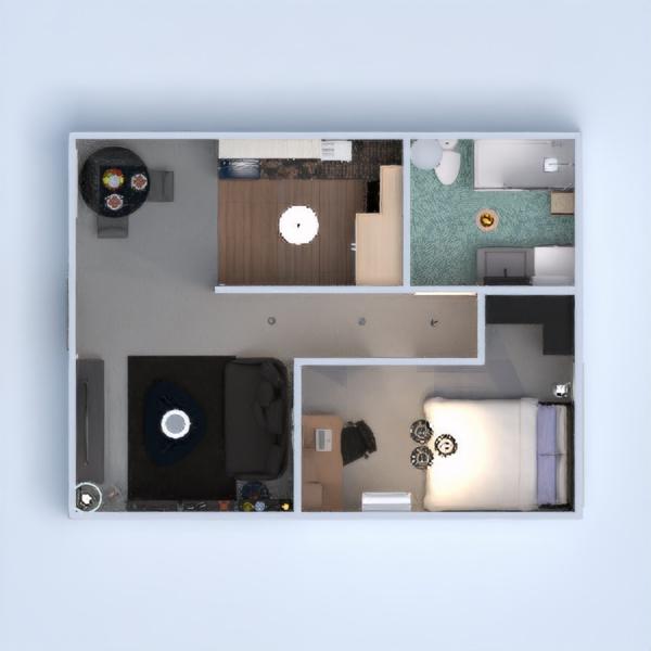floorplans mieszkanie sypialnia pokój dzienny jadalnia 3d