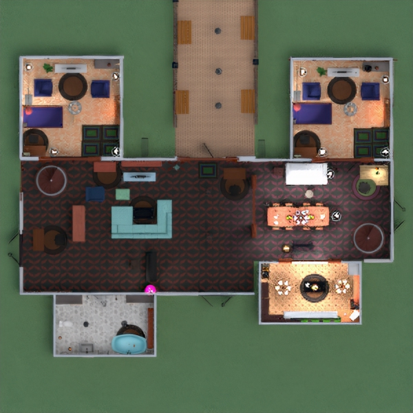 floorplans dom pokój dzienny kuchnia na zewnątrz pokój diecięcy oświetlenie jadalnia architektura 3d
