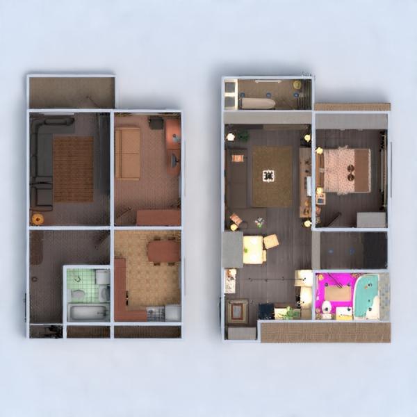 floorplans wohnung mobiliar dekor do-it-yourself badezimmer schlafzimmer wohnzimmer küche beleuchtung renovierung haushalt esszimmer lagerraum, abstellraum studio eingang 3d