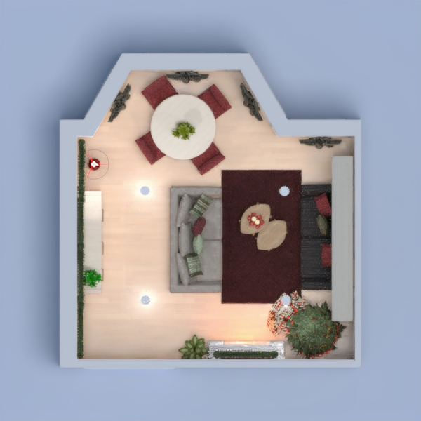 floorplans apartment furniture decor living room dining room 3d