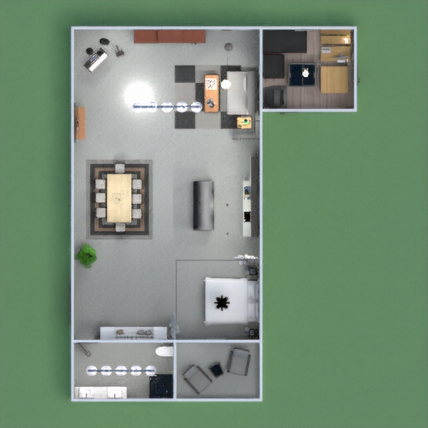 floorplans furniture decor bathroom kitchen office 3d