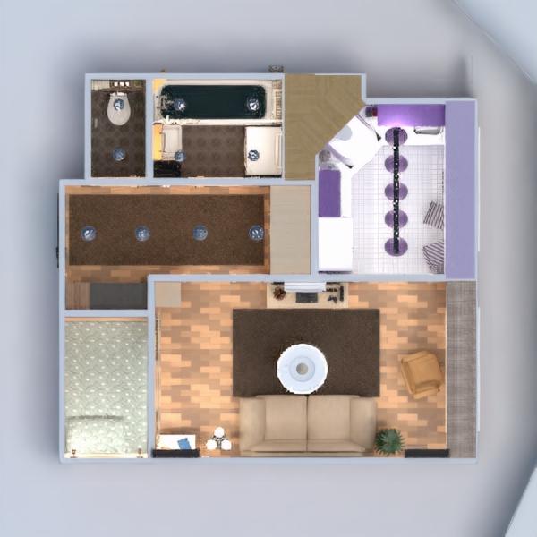 floorplans wohnung mobiliar dekor do-it-yourself badezimmer schlafzimmer wohnzimmer küche büro beleuchtung renovierung lagerraum, abstellraum eingang 3d