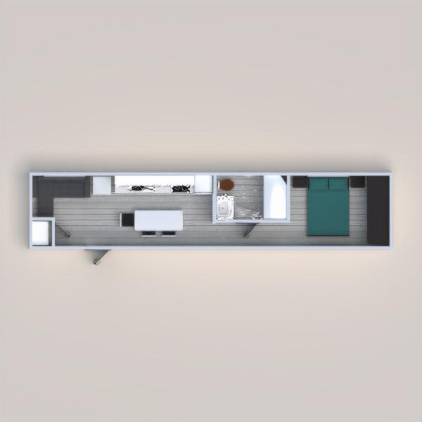 floorplans casa bagno camera da letto architettura monolocale 3d