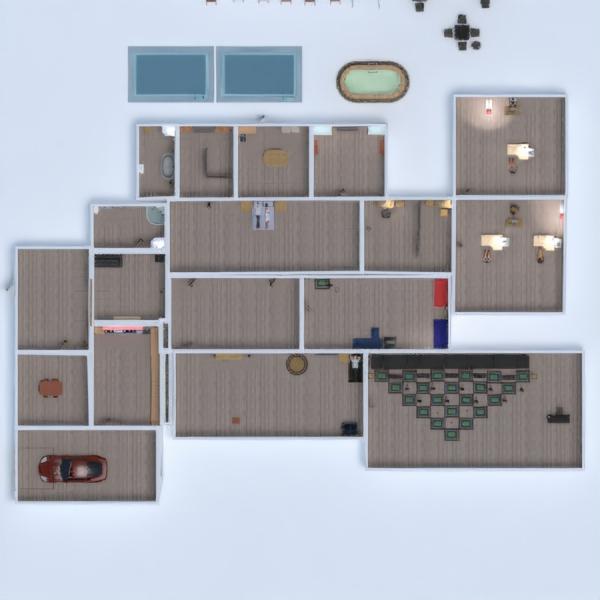 floorplans casa bagno camera da letto saggiorno garage 3d