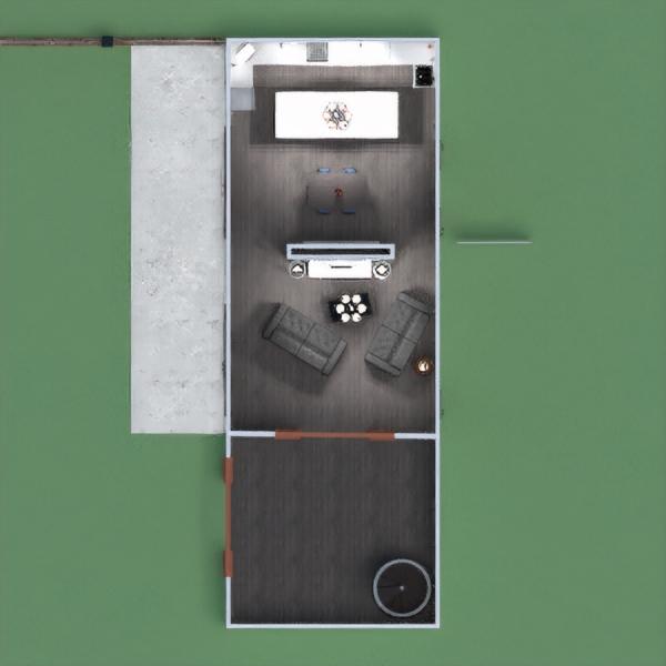 floorplans mieszkanie dom pokój dzienny kuchnia oświetlenie 3d