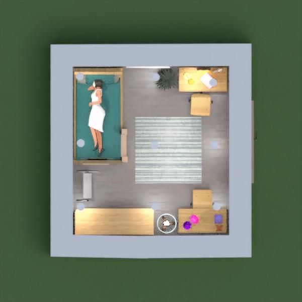 floorplans muebles decoración dormitorio despacho iluminación 3d