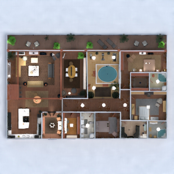 floorplans apartamento muebles decoración cuarto de baño dormitorio salón cocina habitación infantil despacho iluminación hogar comedor arquitectura trastero estudio descansillo 3d