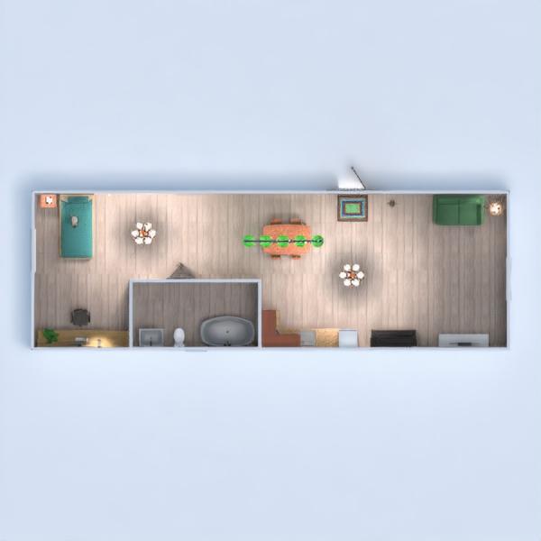 floorplans mieszkanie typu studio 3d