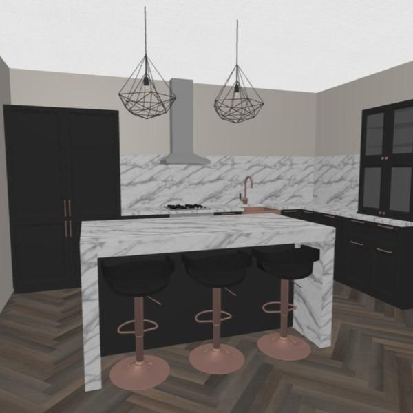 floorplans apartamento quarto cozinha 3d