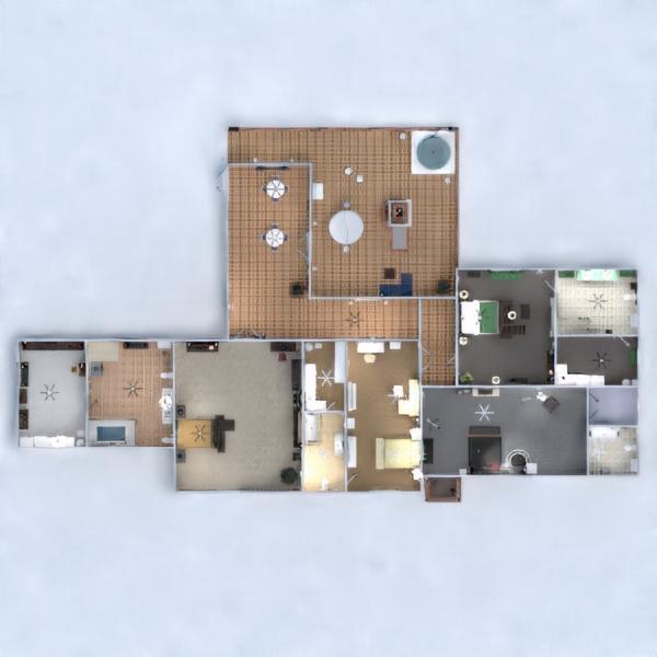 floorplans casa garagem cozinha sala de jantar 3d