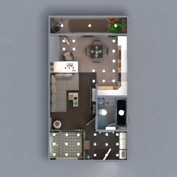 floorplans mieszkanie wystrój wnętrz łazienka pokój dzienny kuchnia oświetlenie mieszkanie typu studio 3d