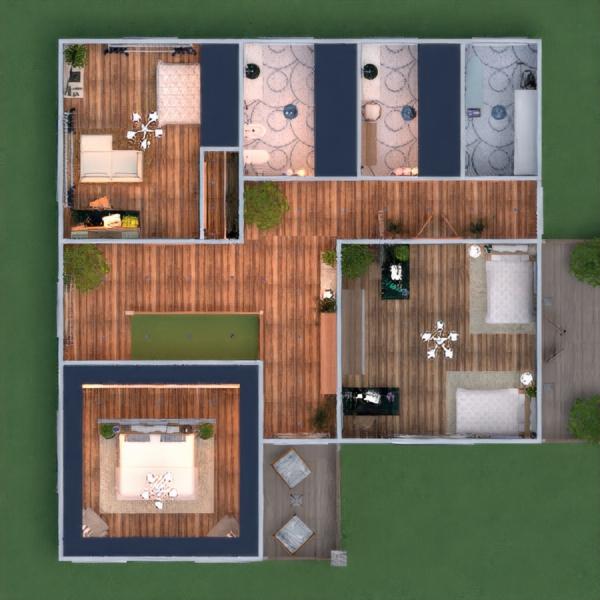 floorplans haus mobiliar badezimmer landschaft haushalt 3d