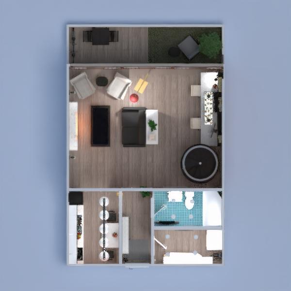 floorplans apartamento decoración dormitorio salón arquitectura estudio descansillo 3d