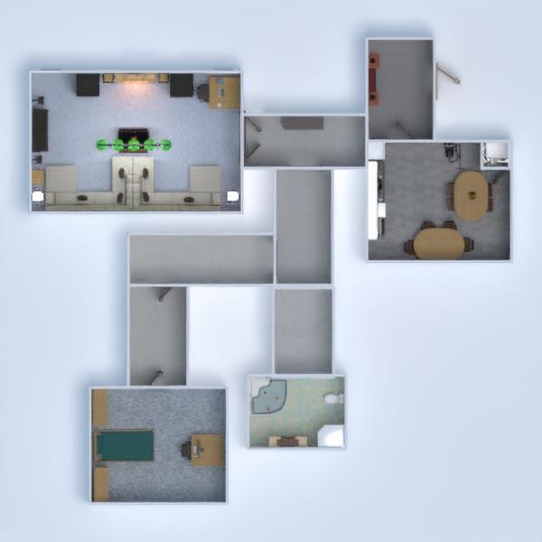 floorplans saggiorno cucina cameretta studio illuminazione 3d