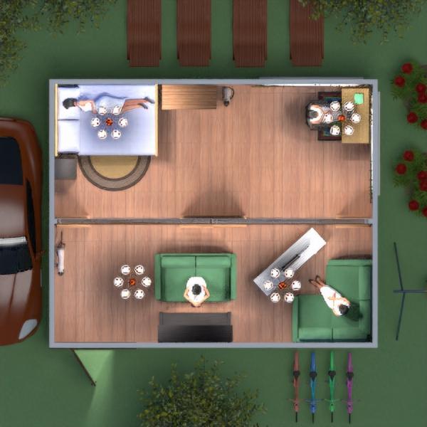 floorplans casa dormitorio salón exterior 3d